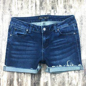 PrAna Denim Dark Wash Jean Shorts Organic Cotton